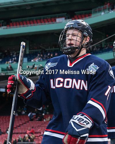 Evan Richardson (UConn - 19) - The University of Maine Black Bears defeated the University of Connecticut Huskies 4-0 at Fenway Park on Saturday, January 14, 2017, in Boston, Massachusetts.