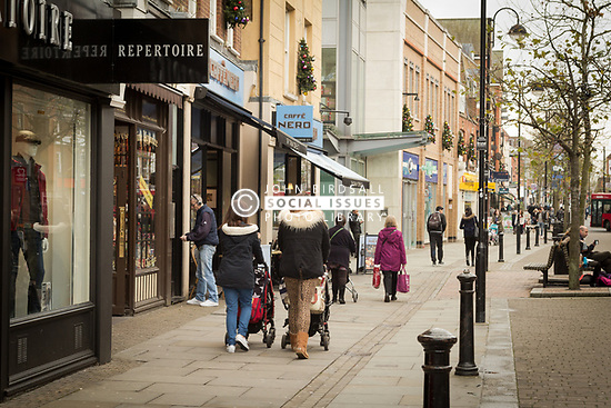 Shopping in Uxbridge, London Borough of Hillingdon, West London UK