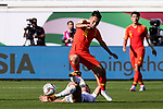 Wu Xi of China (R) fights for the ball with Farhat Musabekov of Kyrgyz Republic (L) during the AFC Asian Cup UAE 2019 Group C match between China (CHN) and Kyrgyz Republic (KGZ) at Khalifa Bin Zayed Stadium on 07 January 2019 in Al Ain, United Arab Emirates. Photo by Marcio Rodrigo Machado / Power Sport Images