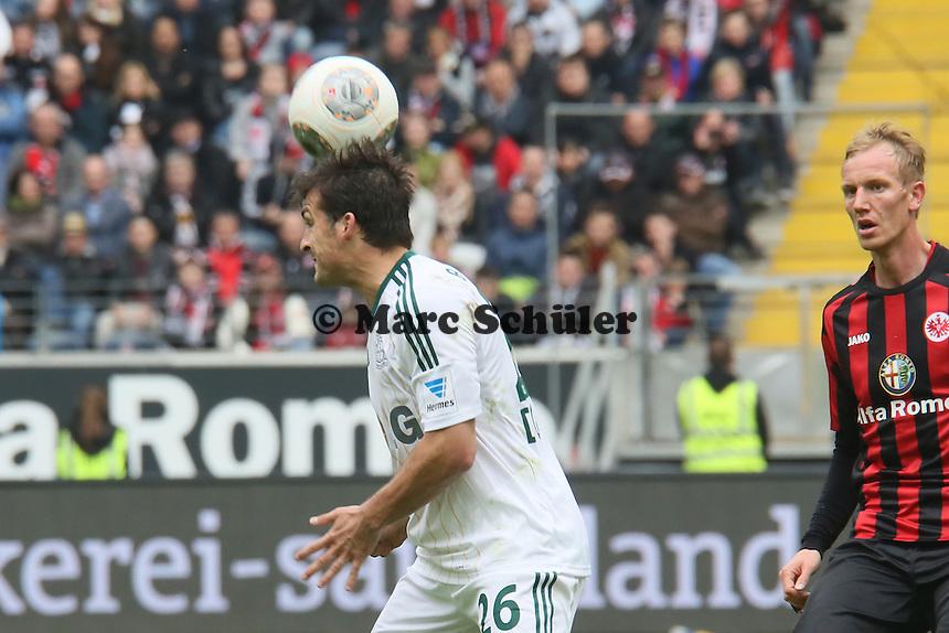 Kopfball Guilio Donati (Bayer) - Eintracht Frankfurt vs. Bayer Leverkusen, Commerzbank Arena