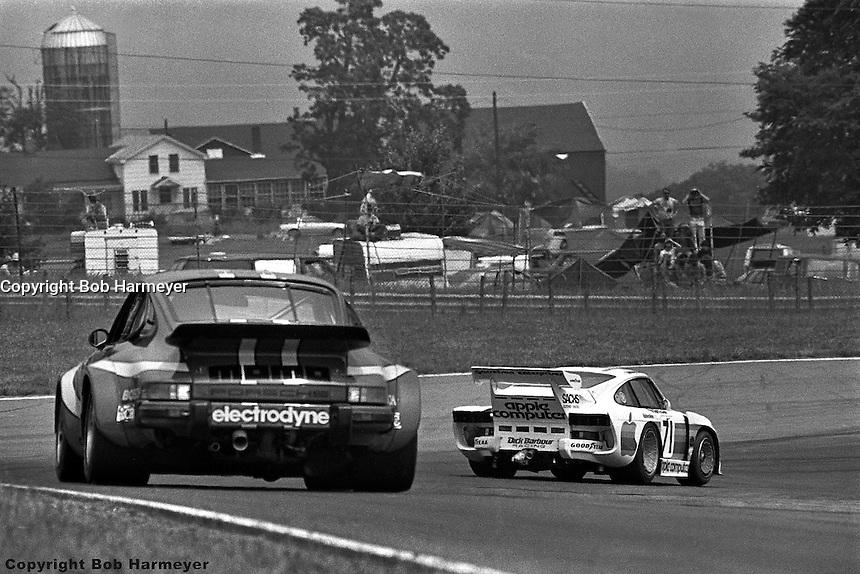 Bobby Rahal leads through Turn 1 in the 1980 Watkins Glen 6 Hours race at Watkins Glen International, Watkins Glen, New York, USA.