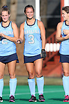 09 October 2015: North Carolina's Kristy Bernatchez. The University of North Carolina Tar Heels hosted the Longwood University Lancers at Francis E. Henry Stadium in Chapel Hill, North Carolina in a 2015 NCAA Division I Field Hockey match. UNC won the game 8-1.