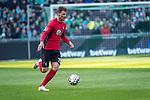 13.04.2019, Weser Stadion, Bremen, GER, 1.FBL, Werder Bremen vs SC Freiburg, <br /> <br /> DFL REGULATIONS PROHIBIT ANY USE OF PHOTOGRAPHS AS IMAGE SEQUENCES AND/OR QUASI-VIDEO.<br /> <br />  im Bild<br /> <br /> Pascal Stenzel (SC Freiburg #15)<br /> Einzelaktion, Ganzk&ouml;rper / Ganzkoerper<br /> <br /> Foto &copy; nordphoto / Kokenge