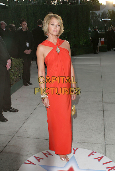 ELLEN BARKIN.2005 Vanity Fair Oscar Party held at Morton's Restaurant. West Hollywood, CA.February 27th, 2005.Photo Credit: Jacqui Wong/AdMedia.full length red dress halterneck bracelets.www.capitalpictures.com.sales@capitalpictures.com.© Capital Pictures.
