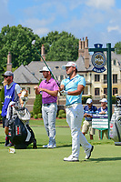 Satoshi Kodaira (JPN) watches his tee shot on 8 during Saturday's round 3 of the PGA Championship at the Quail Hollow Club in Charlotte, North Carolina. 8/12/2017.<br /> Picture: Golffile | Ken Murray<br /> <br /> <br /> All photo usage must carry mandatory copyright credit (&copy; Golffile | Ken Murray)