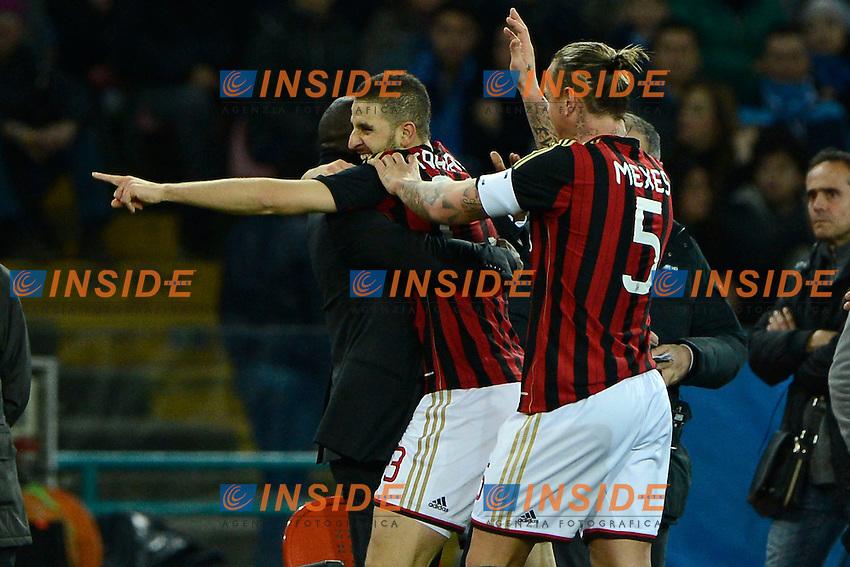 Esultanza gol di Adel Taarabt Milan 1-0. Celebration goal<br /> Napoli 08-02-2014 Stadio San Paolo - Football 2013/2014 Serie A. Napoli - Milan Foto Insidefoto