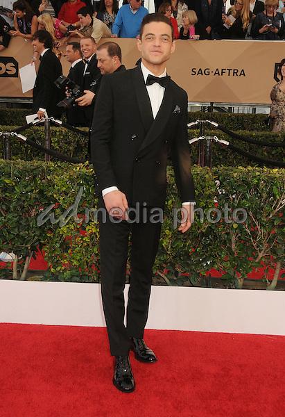 30 January 2016 - Los Angeles, California - Rami Malek. 22nd Annual Screen Actors Guild Awards held at The Shrine Auditorium. Photo Credit: Byron Purvis/AdMedia