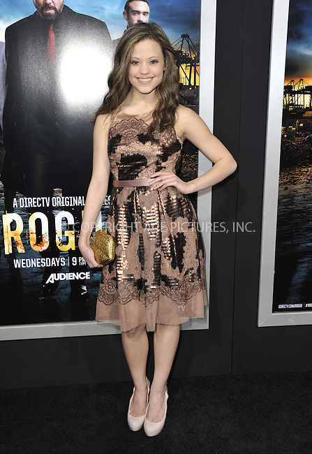 WWW.ACEPIXS.COM....March 26 2013, LA....Sarah Jeffrey arriving at the 'Rogue' Los Angeles premiere at ArcLight Hollywood on March 26, 2013 in Hollywood, California.....By Line: Peter West/ACE Pictures......ACE Pictures, Inc...tel: 646 769 0430..Email: info@acepixs.com..www.acepixs.com