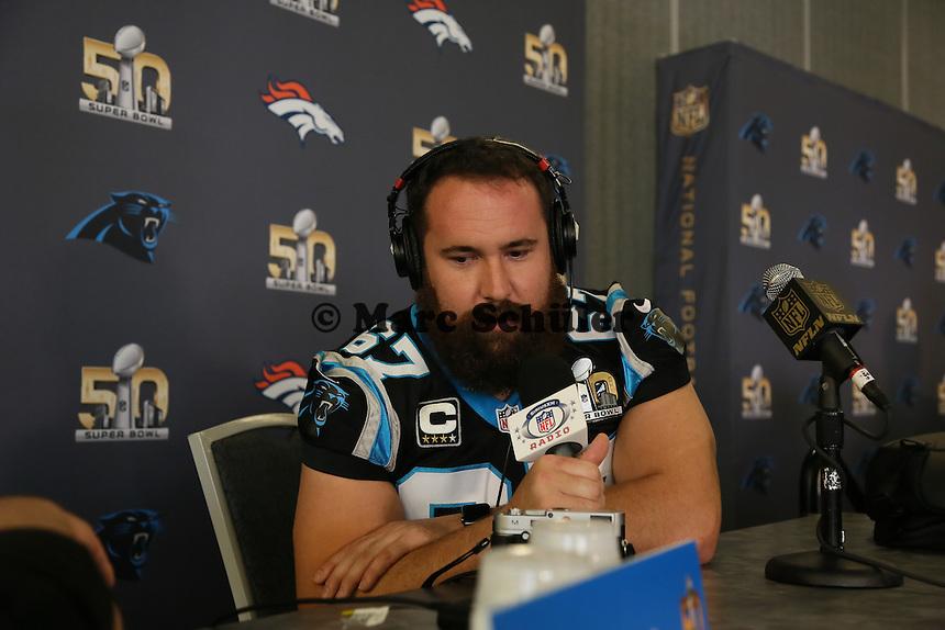 C Ryan Kalil (Panthers) - Super Bowl 50 Carolina Panthers PK, Convention Center San Jose