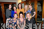 Orla Russell,Ballydavid sits between Conagh Forbes(Lt)& Andrea O'Donoghue while celebrating her engagement with her friends who she only told last Tuesday evening when they got together in Bella Bia,Tralee(back)L-R Eileen Murphy,Mags Spillane,Joan Wharton,Maureen Moriarty and Angela O'Sullivan.