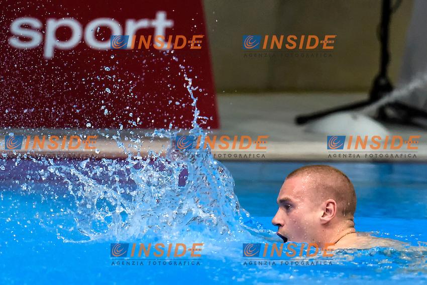 Evgenii KUZNETSOV RUS Russia Gold Medal <br /> Men's 3m Springboard Final <br /> London, Queen Elizabeth II Olympic Park Pool <br /> LEN 2016 European Aquatics Elite Championships <br /> Diving  <br /> Day 04 12-05-2016<br /> Photo Andrea Staccioli/Deepbluemedia/Insidefoto