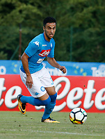 Adam Ounas  of Napoli  during a preseason friendly soccer match against Aunania in Dimaro's Stadium   12 July 2017  .it