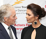 Michael Douglas and Catherine Zeta-Jones attends the Career Transition for Dancers on November 1, 2017 at The Marriott Marquis in New York City.