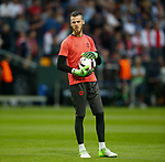 David De Gea of Manchester United starts on the bench during the UEFA Europa League Final match at the Friends Arena, Stockholm. Picture date: May 24th, 2017.Picture credit should read: Matt McNulty/Sportimage
