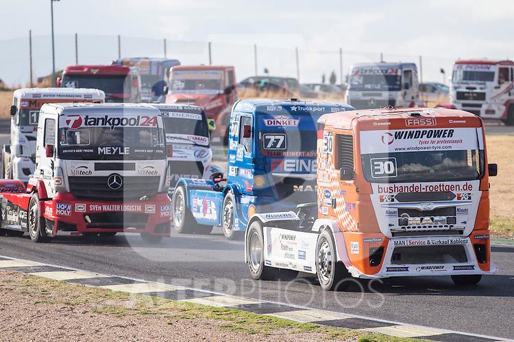 German driver Sascha Lenz belonging German team Sascha Lenz during the fist race R1 of the XXX Spain GP Camion of the FIA European Truck Racing Championship 2016 in Madrid. October 01, 2016. (ALTERPHOTOS/Rodrigo Jimenez)