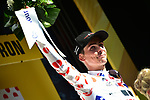 Warren Barguil (FRA) Team Sunweb retains the Polka Dot Jersey at the end of Stage 14 of the 104th edition of the Tour de France 2017, running 181.5km from Blagnac to Rodez, France. 15th July 2017.<br /> Picture: ASO/Pauline Ballet | Cyclefile<br /> <br /> <br /> All photos usage must carry mandatory copyright credit (&copy; Cyclefile | ASO/Pauline Ballet)