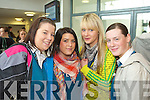 Sarah McLoughlan, Nicole Rusk, Lorainne Horan and Danielle Sweeney from Mercy Mounthawk, Tralee pictured at the IT Tralee open day on Friday.