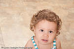 13 month old baby girl at home portrait, closeup horizontal