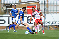 Connor Jennings of Tranmere Rovers and Luther Wildin of Stevenage during Stevenage vs Tranmere Rovers, Sky Bet EFL League 2 Football at the Lamex Stadium on 4th August 2018
