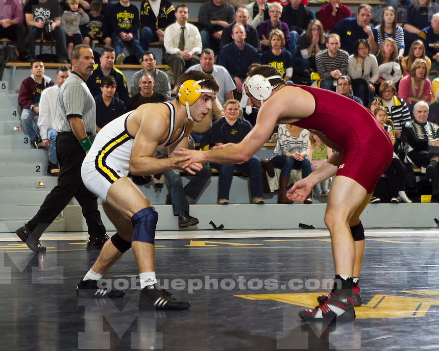The University of Michigan  men's wrestling team beat Indiana 33-6 at Cliff Keen Arena in Ann Arbor, Mich., on January 13, 2011.