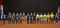 April 18, 2015, Netherlands, Den Bosch, Maaspoort, Fedcup Netherlands-Australia,  Presentation, Teams<br /> Photo: Tennisimages/Henk Koster