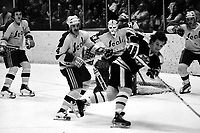 Seals vs Boston Bruins 1975. Seals Terry Murray, <br />