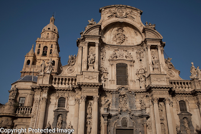 Murcia Santa Maria Cathedral Church Main Facade, Spain