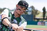 Lake Elsinore Storm outfielder Tirso Ornelas (23) poses for a photo before a California League game against the Inland Empire 66ers at The Diamond on April 14, 2019 in San Jose, California. (Zachary Lucy/Four Seam Images)