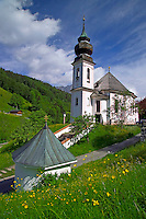 Berchtesgaden, Bavaria, Germany, May 2006. The picturesque church of Maria Gern is a place of pilgrimage.  The beauty of berchtesgadener Land lies in the spectacular mountain landscapes, combined with age old traditions and a welcoming culture. Photo by Frits Meyst/Adventure4ever.com