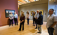 NWA Democrat-Gazette/BEN GOFF @NWABENGOFF<br /> Dr. Nile Blunt (second from right), head of school programs at Crystal Bridges Museum of American Art, leads a tour for the Springdale board of education and administrators Tuesday, April 9, 2019, at the museum in Bentonville.