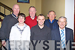 SMILES: Some of the Lee Strand staff who attended their Christmas party in the Brandon Hotel, Tralee on Saturday night. FRront l-r: Daryl Byrne, Jame Sugrue and Teddy Lynch. Back l-r: Rory Byrne, John Nolan and JP Daly.. . ............................... ..........
