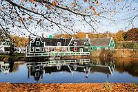 Nederland Arnhem 2015.  Zaanse huizen in het Nederlands Openluchtmuseum.   Foto Berlinda van Dam / Nederlandse Hoogte