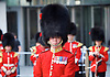 The Band of the Coldstream Guards outside the <br /> BBC, Broadcasting House, London, Great Britain <br /> 9th April 2017 <br /> <br /> <br /> Major Simon Haw <br /> director of music <br /> Coldstream Guards <br /> <br /> <br /> The band of the Coldstream Guards <br /> playing &quot;Pacific&quot; live on BBC Radio 4 <br /> to promote the forthcoming St George's Day concert at Cadogan Hall, Chelsea on 22nd April 2017 in aid of Combat Stress <br /> <br /> Photograph by Elliott Franks <br /> Image licensed to Elliott Franks Photography Services