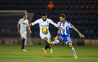 Alex Jakubiak of Wycombe Wanderers & Kurtis Guthrie of Colchester United during the Sky Bet League 2 match between Colchester United and Wycombe Wanderers at the Weston Homes Community Stadium, Colchester, England on 21 February 2017. Photo by Andy Rowland / PRiME Media Images.