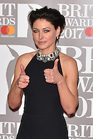 Emma Willis<br /> The Brit Awards at the o2 Arena, Greenwich, London, England on February 22, 2017.<br /> CAP/PL<br /> &copy;Phil Loftus/Capital Pictures /MediaPunch ***NORTH AND SOUTH AMERICAS ONLY***