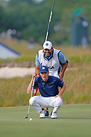 Jordan Spieth (USA) lines up a putt on the 16th hole during the second round of the 118th U.S. Open Championship at Shinnecock Hills Golf Club in Southampton, NY, USA. 15th June 2018.<br /> Picture: Golffile | Brian Spurlock<br /> <br /> <br /> All photo usage must carry mandatory copyright credit (&copy; Golffile | Brian Spurlock)