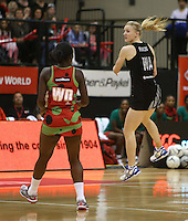 24.10.2013 Silver Fern Shannon Francois in action during the Silver Ferns V Malawi New World Netball Series played at the TSB Bank Arena in Wellington. Mandatory Photo Credit ©Michael Bradley.