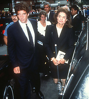 John F. Kennedy Jr. Jacqueline Kennedy 1990<br /> Photo By Adam Scull/PHOTOlink.net