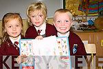 SHOWING: Eve Hussey, Sarah Cantillon and Eric Walsh showing some of their drawing on their first day at school in .,on Friday. ........ ...... ..DANCING: Denise McEvoy Tralee who danced the night away at her 30th Birthday Party in the KOR GAA & Hurling Club, Strand Road, Tralee(Denise is seated centre). .... ..   Copyright Kerry's Eye 2008