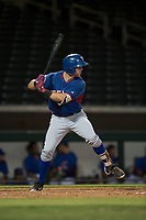 AZL Rangers right fielder Ryan Anderson (6) at bat during an Arizona League game against the AZL Cubs 2 at Sloan Park on July 7, 2018 in Mesa, Arizona. AZL Rangers defeated AZL Cubs 2 11-2. (Zachary Lucy/Four Seam Images)