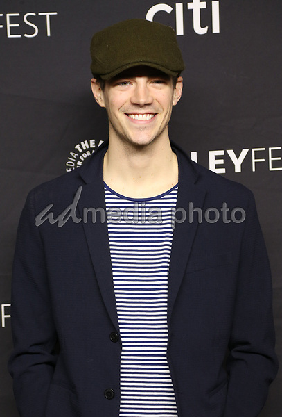 "18 March 2017 - Hollywood, California - Grant Gustin. The Paley Center For Media's 34th Annual PaleyFest Los Angeles - The CW ""Heroes & Aliens"" held at Dolby Theatre. Photo Credit: AdMedia"
