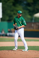 Beloit Snappers relief pitcher Seth Martinez (20) gets ready to deliver a pitch during a game against the Dayton Dragons on July 22, 2018 at Pohlman Field in Beloit, Wisconsin.  Dayton defeated Beloit 2-1.  (Mike Janes/Four Seam Images)