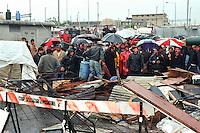 - Milano, campo rom di via Triboniano, sgombero del campo ..- Milan, Roma gypsies camp in Triboniano street, camp evacuation