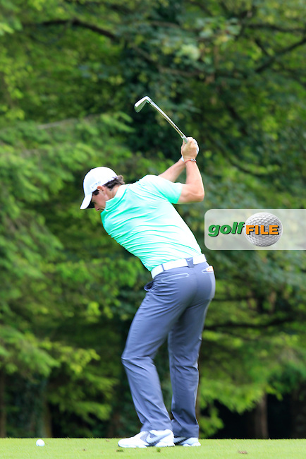 Rory McIlroy (NIR) during Wednesday's Pro-Am of the 2014 Irish Open held at Fota Island Resort, Cork, Ireland. 18th June 2014.<br /> Picture: Eoin Clarke www.golffile.ie