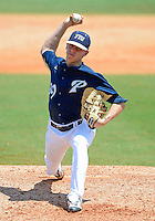 Florida International University right handed pitcher Eddy Pidermann (39) plays against ULM. FIU won the game 8-6 on April 1, 2012 at Miami, Florida.