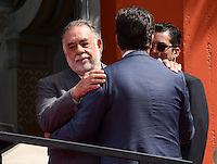 Francis Ford Coppola + son Roman Coppola @ his Hand & Foot Print ceremony held @the TCL Chinese theatre.<br /> April 29, 2016