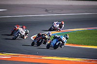 VALENCIA, SPAIN - NOVEMBER 8: Livio Loi, Alexis Masbou during Valencia MotoGP 2015 at Ricardo Tormo Circuit on November 8, 2015 in Valencia, Spain