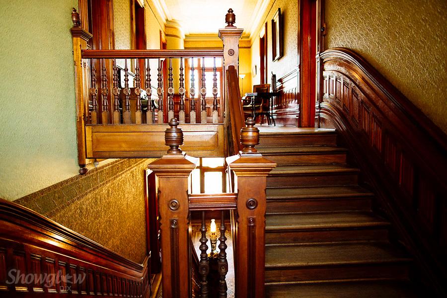 Ornate Staircase. Image Ref: CA452u003cbr /u003e Location: Mildurau003cbr /u003e Date