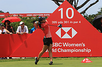 Danielle Kang (USA) in action on the 10th during Round 3 of the HSBC Womens Champions 2018 at Sentosa Golf Club on the Saturday 3rd March 2018.<br /> Picture:  Thos Caffrey / www.golffile.ie<br /> <br /> All photo usage must carry mandatory copyright credit (&copy; Golffile   Thos Caffrey)