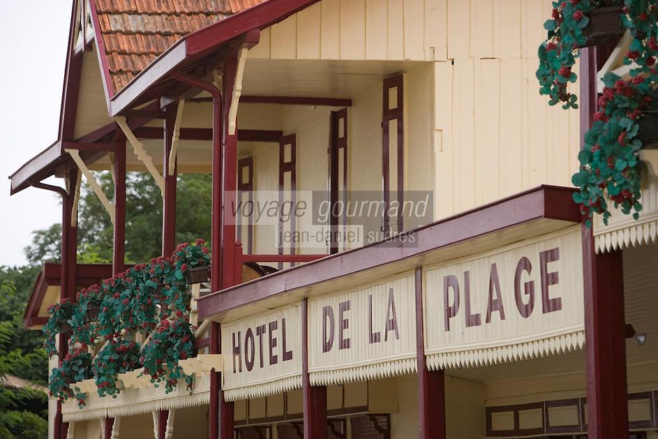 Europe/France/Aquitaine/33/Gironde/Bassin d'Arcachon/L'Herbe; l'Hotel de la Plage